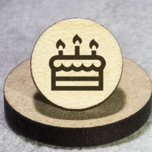 Birthday Cake Round Maple Earrings