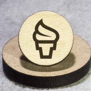 Soft-Serve Ice Cream Round Maple Earrings