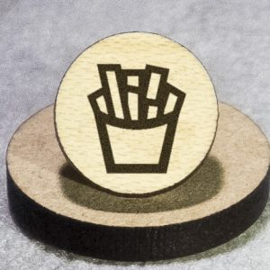 Fries Round Maple Earrings