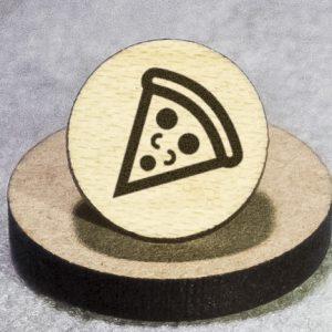 Pizza Slice Round Maple Earrings