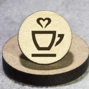 Love My Coffee/Tea Round Maple Earrings