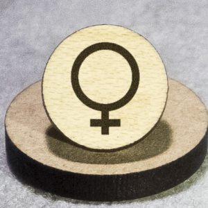 Female Round Maple Earrings