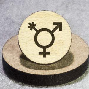 Transgender (alternate) Round Maple Earrings