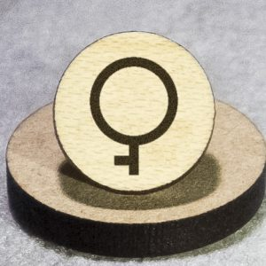 Demigirl Round Maple Earrings