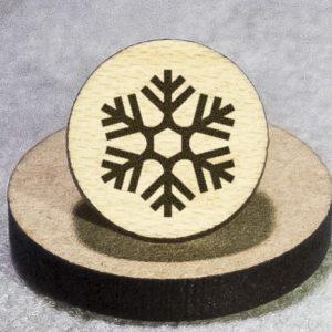 Snowflake 2 Round Maple Earrings