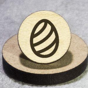 Easter Egg 3 Round Maple Earrings