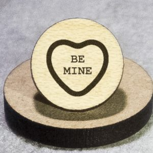 Valentine's Candy: Be Mine Round Maple Earrings