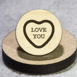 Valentine's Candy: Love You Round Maple Earrings
