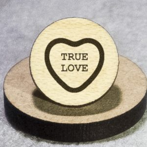 Valentine's Candy: True Love Round Maple Earrings