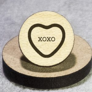 Valentine's Candy: XOXO Round Maple Earrings