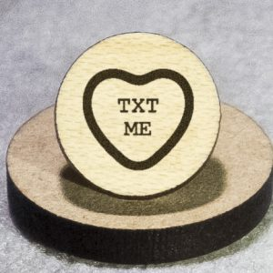 Valentine's Candy: Txt Me Round Maple Earrings