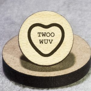 Valentine's Candy: Twoo Wuv Round Maple Earrings