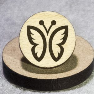 Butterfly Round Maple Earrings