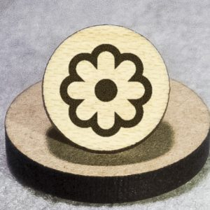 Flower Round Maple Earrings