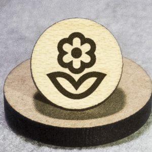 Blooming Flower Round Maple Earrings