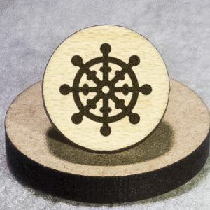 Buddhism Round Maple Earrings