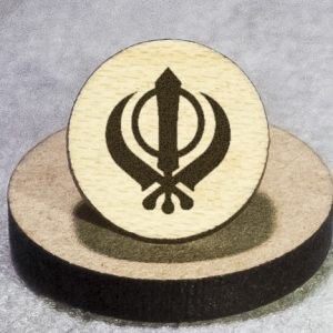 Sikhism Round Maple Earrings