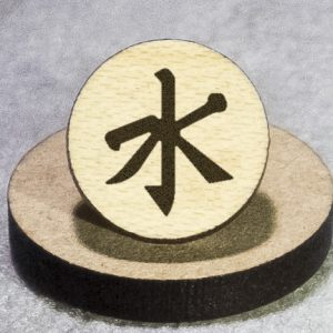 Confucianism Round Maple Earrings