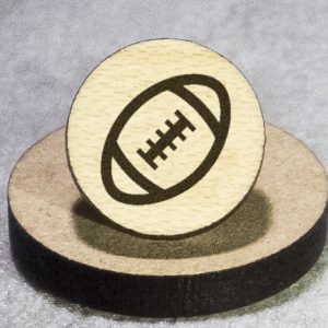 American Football Round Maple Earrings