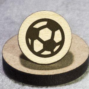 Football (American Soccer) Round Maple Earrings