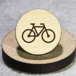 Cycling Round Maple Earrings