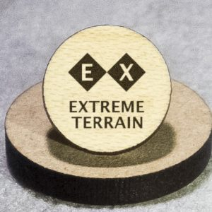 North American Snowsports Symbols: Extreme Terrain Round Maple Earrings