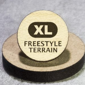 North American Snowsports Symbols: Freestyle Terrain (XL) Round Maple Earrings